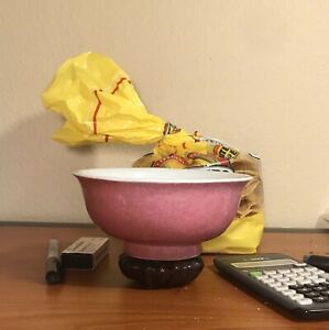 Chinese antique pink bowl
