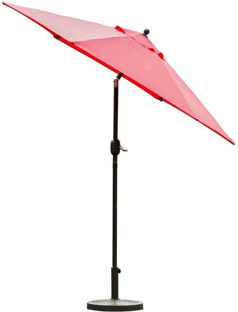 sunnyglade 7 5 outdoor patio umbrella table market with push button tilt crank