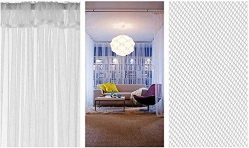 2 curtain pairs white 2 set ikea lill sheer curtains 4 panels 98 x 110 home garden patterer window treatments hardware