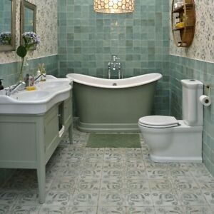 details about helix sage green patterned ceramic floor wall tiles per sqm