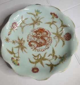 Antique Chinese Porcelain Dish Famille Pattern