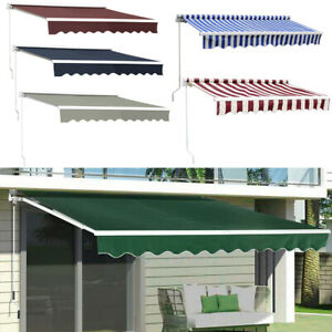 details about waterproof patio retractable awning manual exterior sun shade deck window cover