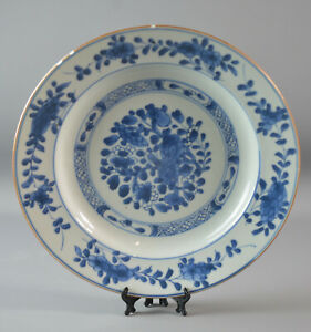 ANTIQUE CHINESE BLUE AND WHITE PLATE 18TH CENTURY