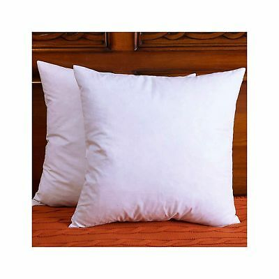 set of 2 cotton fabric throw pillows insert down feather pillow 18x18 inch