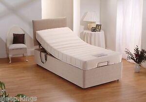 Image Is Loading 2ft6 Small Single Adjule Electric Bed Memory Foam