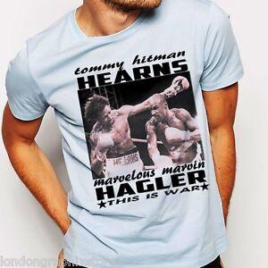 Boxing T Shirt Marvin Hagler Tommy Hearns Black History