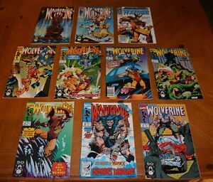 LOT E 10 WOLVERINE COMIC BOOKS LOT FOR COLLEGE BOOKS / TUITION - READ BUT LOVED