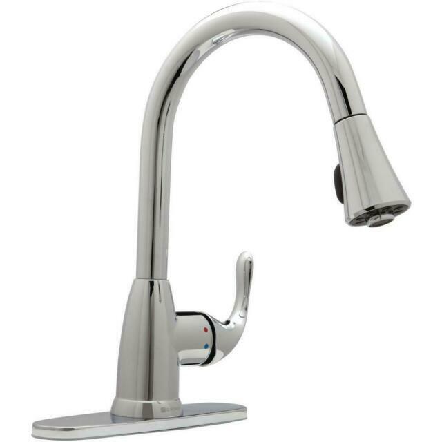 glacier bay hd67551 0301 single handle pull down sprayer kitchen faucet