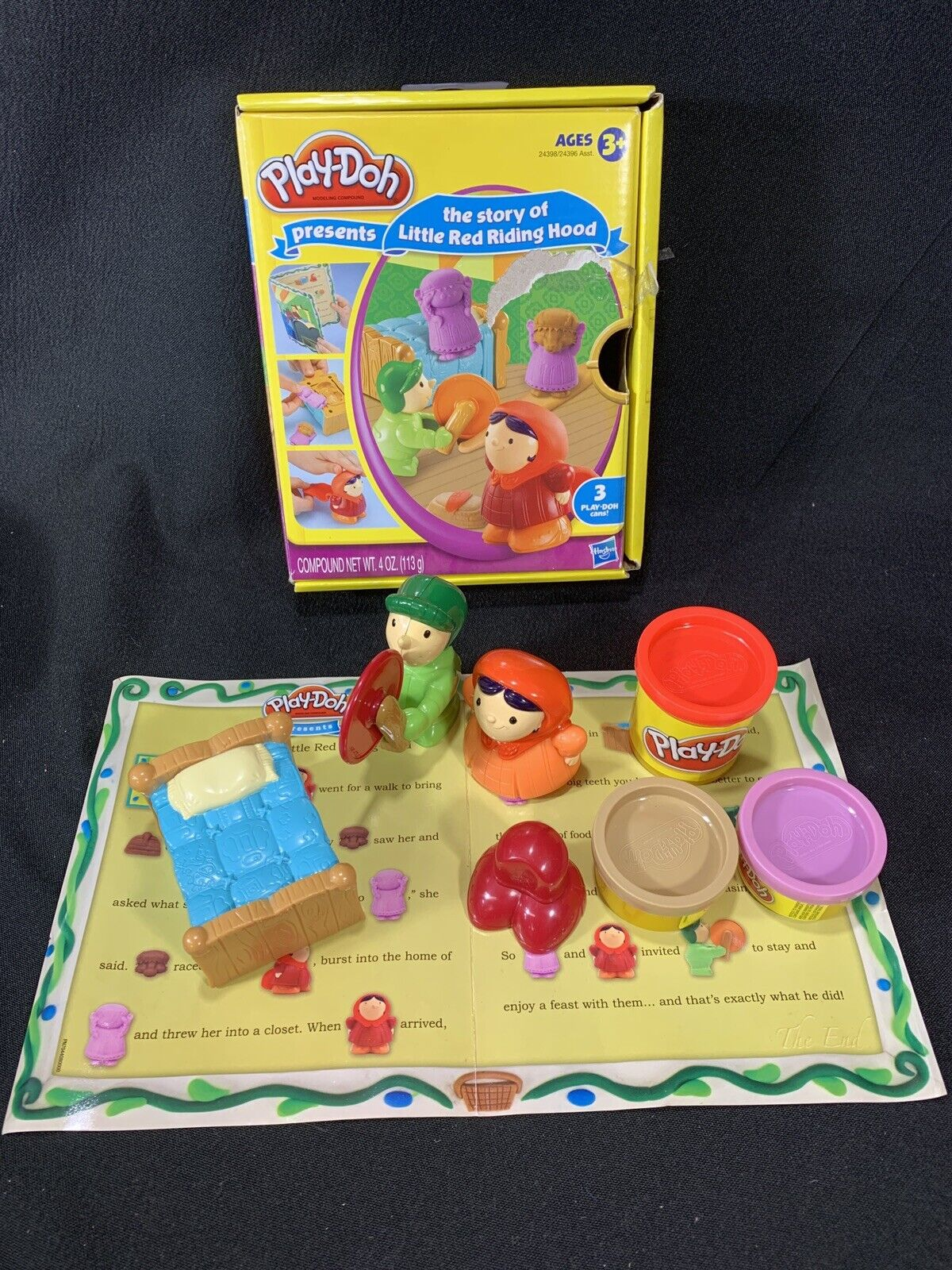 Play Doh Presents Story Of The Little Red Riding Hood Hasbro Molds Complete Set