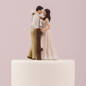 Rustic Couple Porcelain Figurine Wedding Cake Topper Blush Dress     Image is loading Rustic Couple Porcelain Figurine Wedding Cake Topper Blush