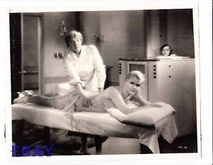 Image Is Loading Sexy Leggy Babe Gets Massage Vintage Photo Back