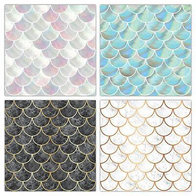 shell fish scale tile stickers transfers marble pearl effect t23s ebay