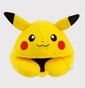 details about pokemon pikachu face hood neck cushion travel pillows