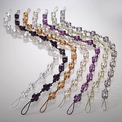 tiffany beaded curtain tie backs crystal gem glitz effect rope voile hold backs ebay