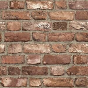 Approfitta della spedizione gratuita, dei saldi per un periodo limitato, dei resi facili e della protezione acquirente! 3d Effect House Brick Wallpaper Slate Stone Textured Vinyl Paste Wall Red Grey Ebay