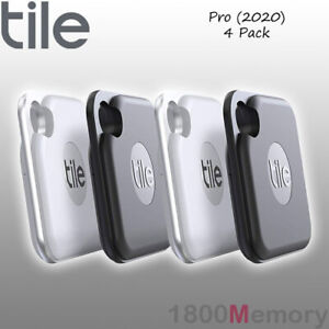 details about genuine tile pro 2020 bluetooth tracker 4 pack with replaceable battery black