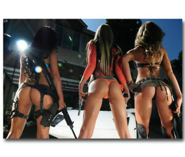 Image Is Loading Hot Sexy Ass Underwear Model Girl With Guns