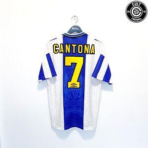 Eric cantona, fransk fotbollsspelare (fotboll) som var en av sportens. 1994/96 CANTONA #7 Manchester United Vintage Umbro Away ...