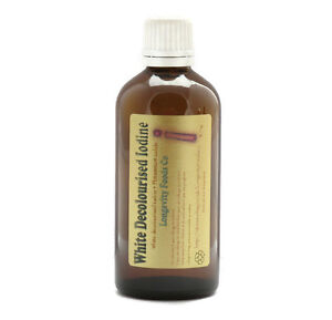 liquid white iodine potassium iodide 100ml hair nails multi mineral ebay