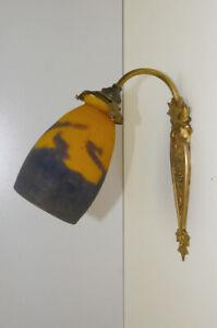 details zu jugendstil wandlampe muller freres pate de verre bronzemontierung art nouveau