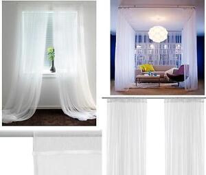details sur ikea blanc lill filet rideaux 250 cm x 280cm set de 2 rideaux acheter plus et enregistrer afficher le titre d origine