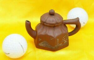 Shi Da Bin Signed Zisha Teapot Purple Clay Chinese Yixing Handmade Decal 時大彬