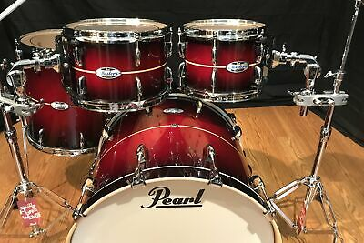 pearl masters maple complete mct924exdp c836 natural banded red burst stripe 633816757723 ebay
