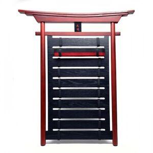 details zu karate belt display rack new wood frame budo martial arts belt holder 515c