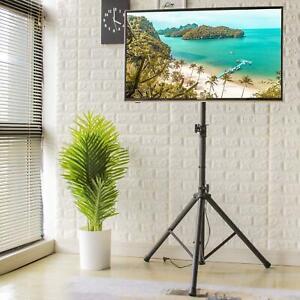 details sur meuble tv trepied ecran plat support tele sur pied pliable pivotant