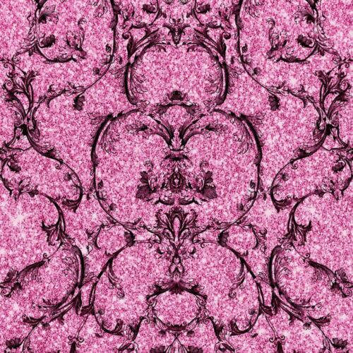 papier peint baroque parchemin papier peint damasse paillete texture vinyle turquoise rose muriva togao