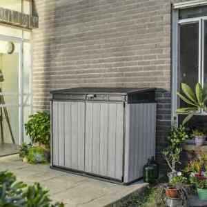 details sur keter abri de stockage elite store gris plastique pp rangement jardin patio