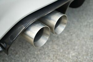 details zu active autowerke exhaust tips for bmw m3 m4 silver tips
