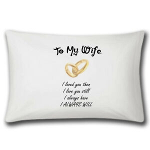 details about to my wife pillow case wedding gift anniversary gifts love cute married