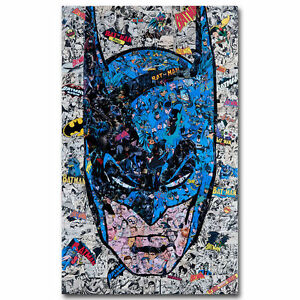 Batman DC Superheroes Comic Art Silk Canvas Poster Print 12x20 24x36 inches
