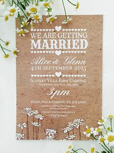 Details About 50 Personalised Vintage Country Shabby Chic Wedding Invitations The Invite Shack