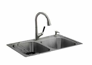 details about kohler all in one sink faucet combo set