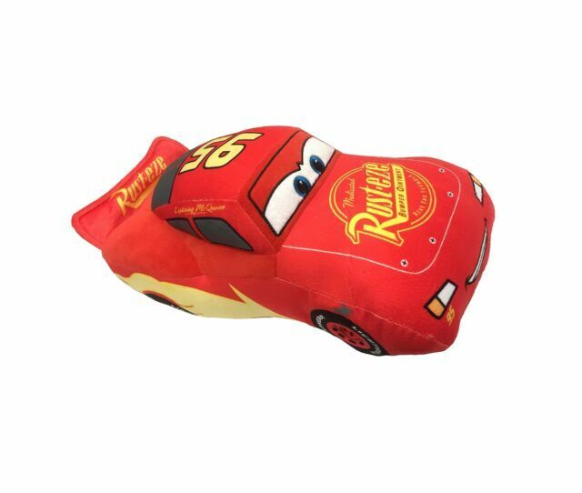 disney pixar cars 3 s plush lightning mcqueen red pillow buddy rare
