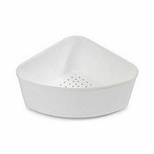 corner sink strainer white by better houseware 724 home improvement