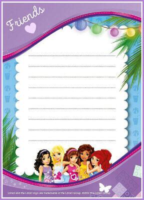 lego friends party invitations x 10 c w envelopes ebay