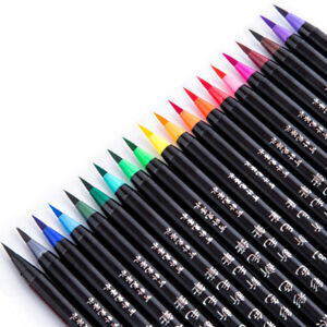 1Pcs Color Premium Painting Soft Brush Pen Watercolor Art Markers Manga Supplies