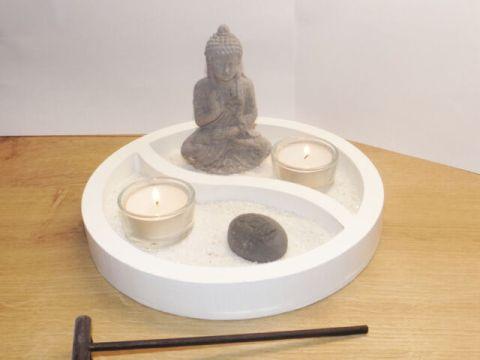 zen garten deko zen garten deko-set buddha yin & yang asien geschenk dekoration