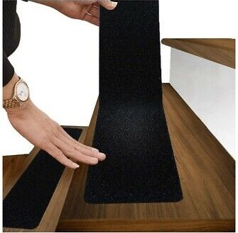 """6""""X30"""" Stair Treads Non Slip Indoor Outdoor Tape 10 Pack Black   No Slip Strips For Carpeted Stairs   Hardwood   Traction   Brown Cinnamon   Tread Nosing   Flooring"""