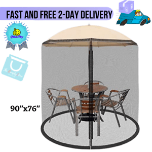 details about patio umbrella cover mosquito netting screen for patio table deck furniture new