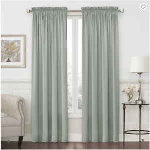 details about jcpenney home hilton light filtering rod pocket single curtain panel