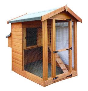Chicken Coop Hen House Large Wooden Chicken Coop And Run