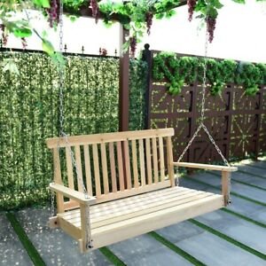 details about silla colgante columpio de madera para 2 personas 4 muebles para jardin