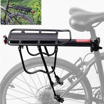 bicycle back rear rack alloy bike cycle seat post frame carrier holder for mtb ebay