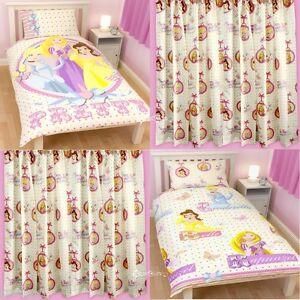 Disney Princess Locket Single Duvet & Matching Curtains ...