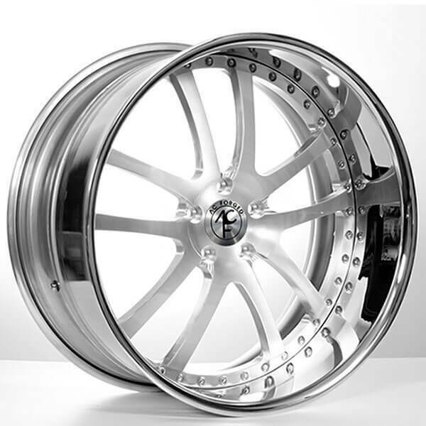 (4) 19″ AC Forged Wheels Rims 312 ST Brush W/Chrome lip 3 pcs (B30)