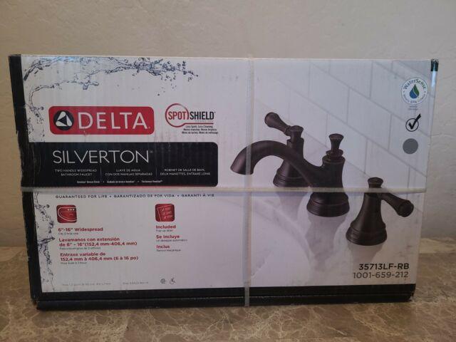 delta silverton 8 inch widespread 2 handle bathroom faucet venetian bronze j